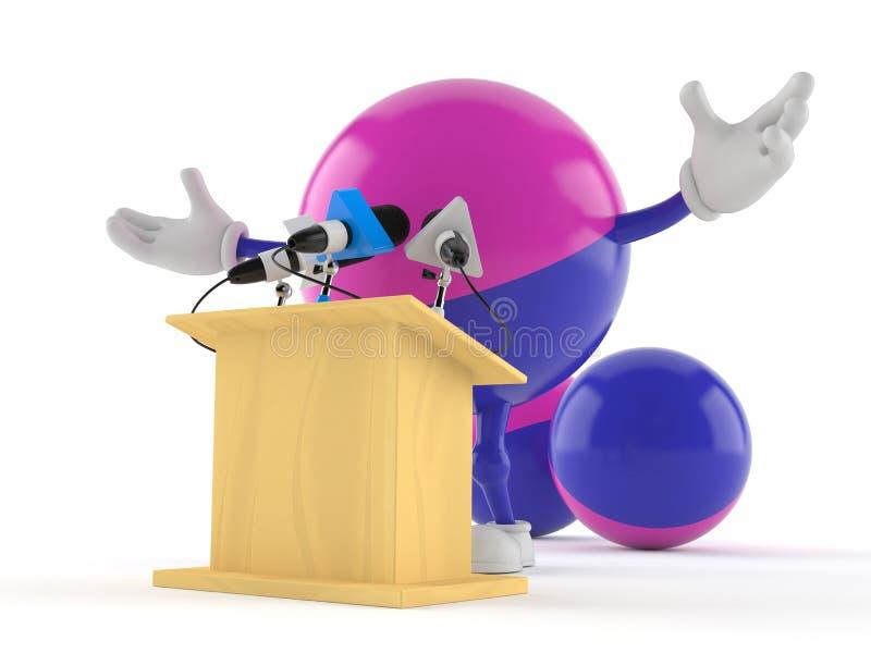 Le caractère de Paintball présente un exposé illustration de vecteur