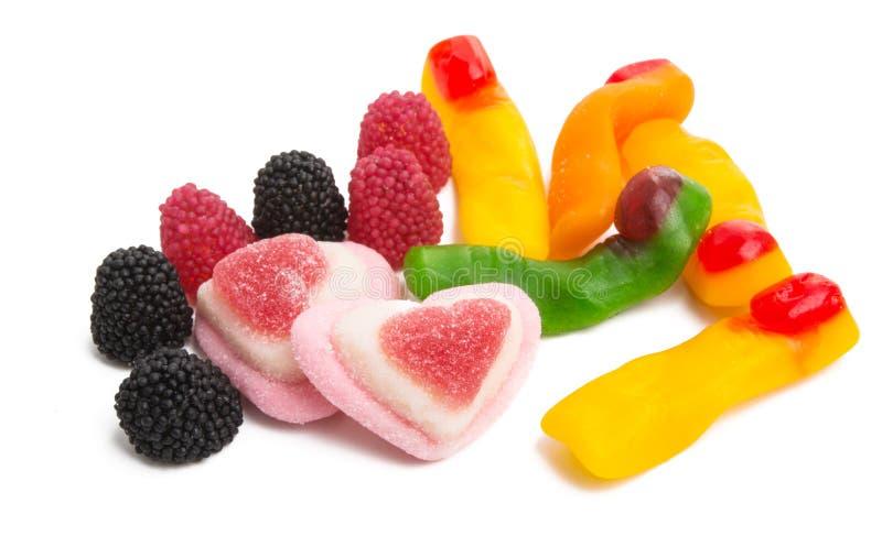 Le caramelle della gelatina hanno isolato immagini stock libere da diritti