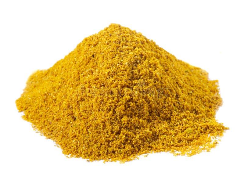 le cari Madras chaud au-dessus de pile épice le blanc photo stock