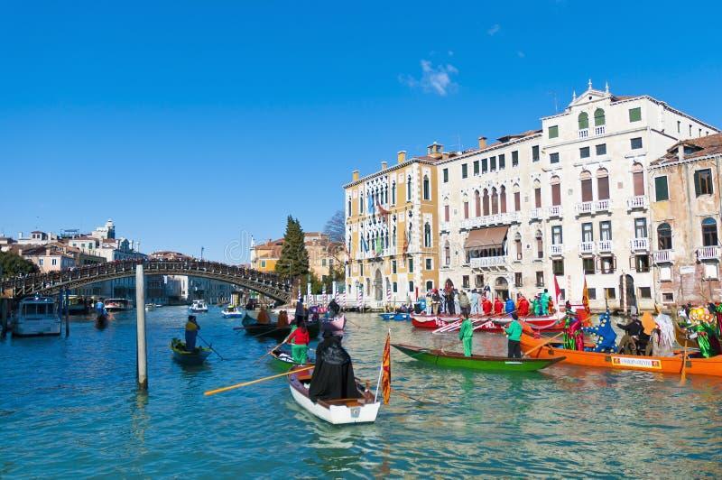 Le carnaval annuel a exécuté à Venise, Italie photos stock
