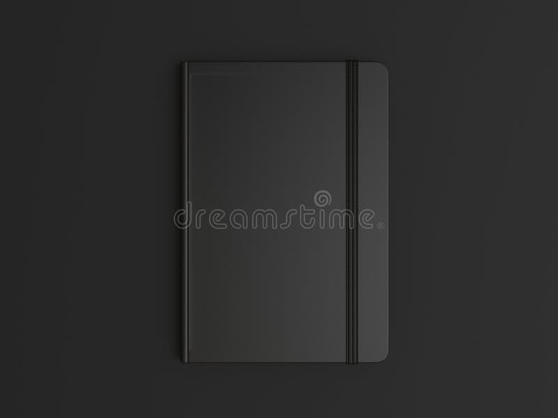 Le carnet avec la fermeture de bande élastique pour stigmatiser et faux vides, 3d rendent l'illustration illustration de vecteur