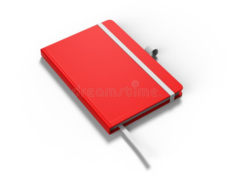Le carnet avec la fermeture de bande élastique pour stigmatiser et faux vides, 3d rendent l'illustration illustration stock