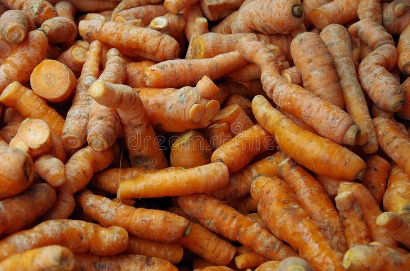 Le carote rustiche hanno accatastato il dettaglio immagine stock
