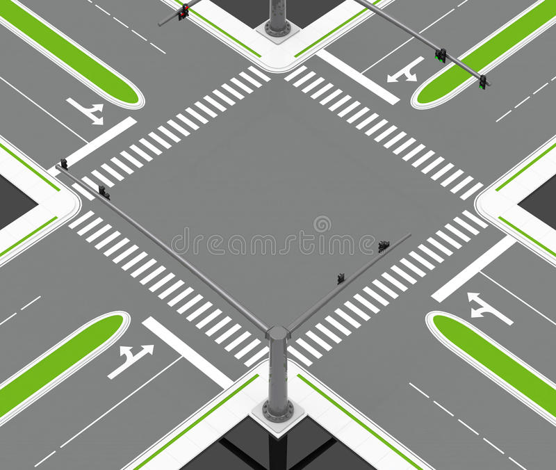 Le carrefour illustration stock