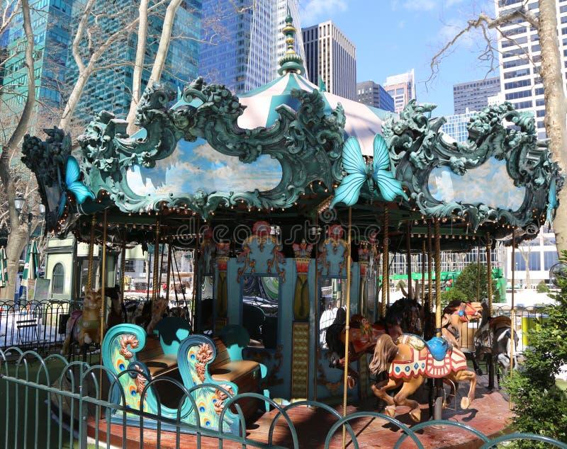 Le Carrousel en Bryant Park, Midtown Manhattan photo libre de droits