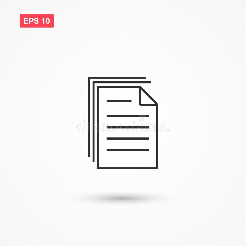 Le carte del documento accatastano lo stile del profilo hanno isolato 1 royalty illustrazione gratis