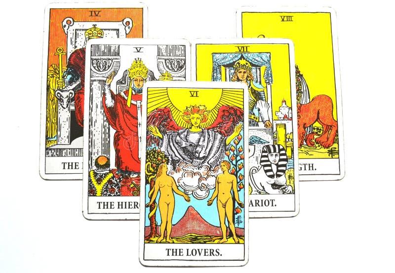 Le carte di tarocchi degli amanti amano l'affetto di associazioni di scelte illustrazione vettoriale