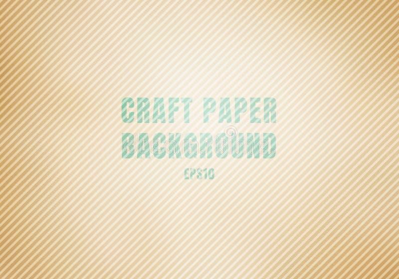 Le carton ondulé brun de papier de métier a souillé le fond de texture Le calibre Papier d'emballage réaliste a réutilisé illustration de vecteur