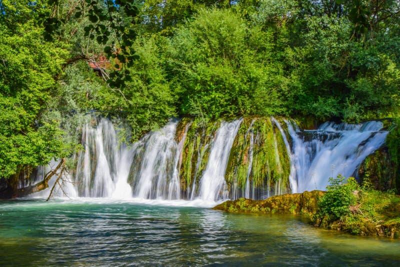 Le cascate di Slunj immagine stock libera da diritti