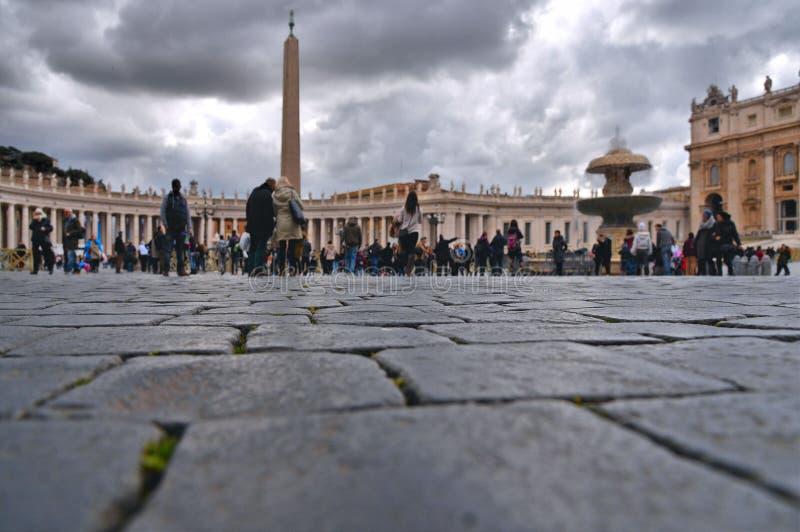 Le case variopinte e la vecchia architettura a St Peters quadrano a Roma, Italia fotografie stock