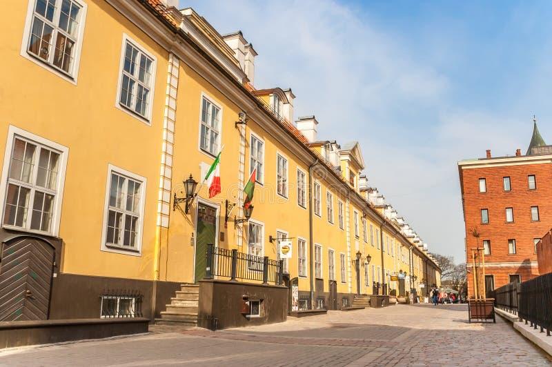 Le caserme di Jacob nel centro storico di Riga fotografia stock libera da diritti