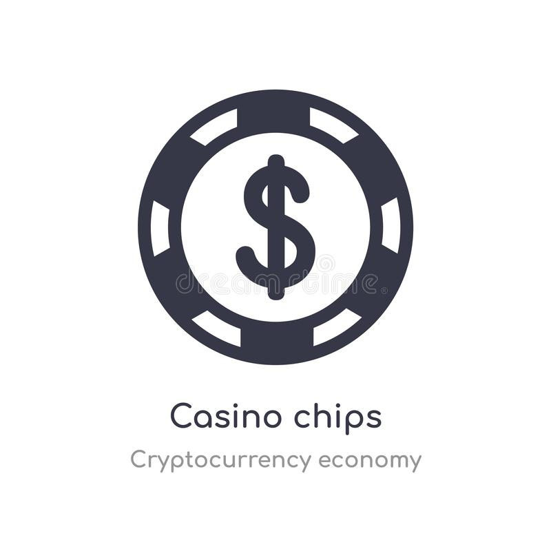 Le casino ?br?che l'ic?ne illustration d'isolement de vecteur d'icône de puces de casino de collection d'économie de cryptocurren illustration libre de droits