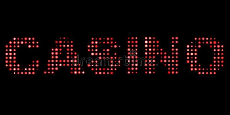 Le casino a mené le texte illustration de vecteur