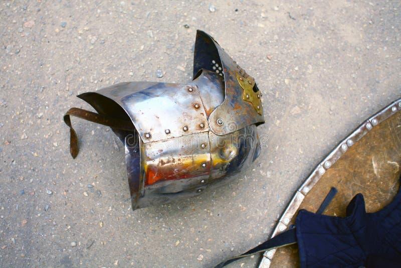 Le casque du chevalier photo stock