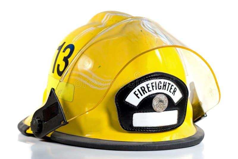 Le casque du pompier image stock