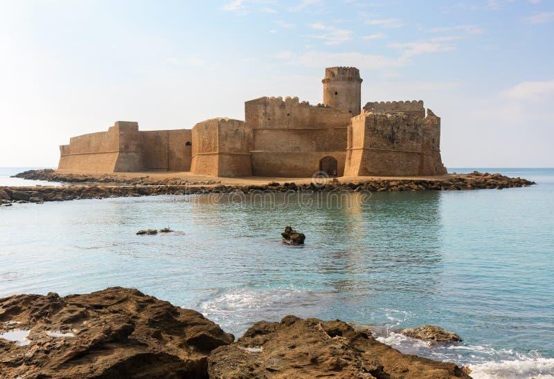 Le Castella,卡拉布里亚,意大利 免版税库存图片