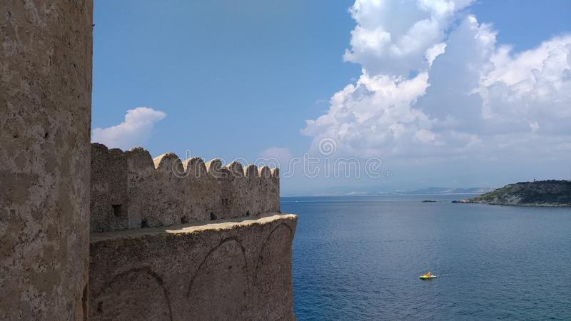 Le Castella - Panoramic royalty free stock photo