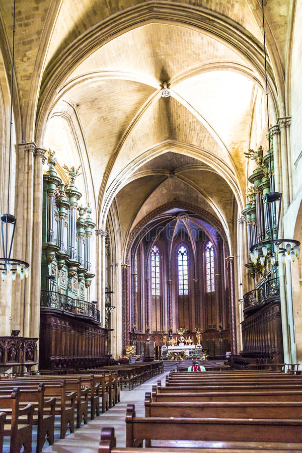 Le Cathedrale Sainte Sauveur à Aix-en-Provence, France photographie stock libre de droits