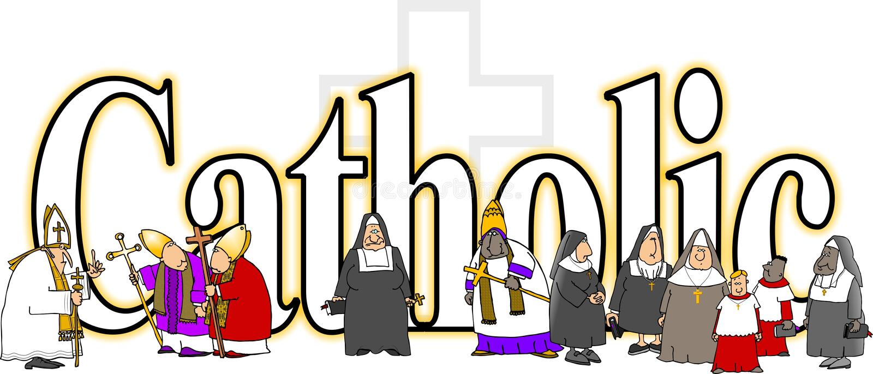 Le catholique de mot illustration de vecteur
