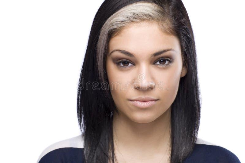 Le Caucasian kvinna Headshot arkivbilder