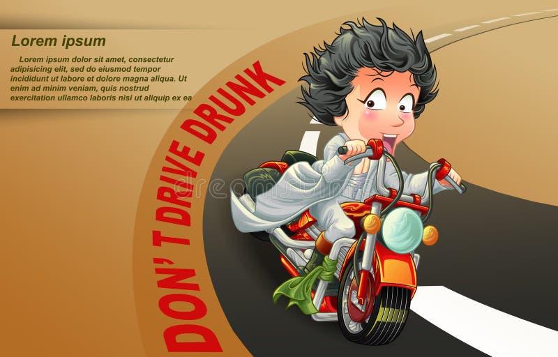 Le cavalier vous dit qui ne conduisent pas si vous ivre illustration stock