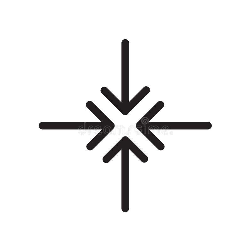 Le centre alignent l'icône d'isolement sur le fond blanc illustration de vecteur