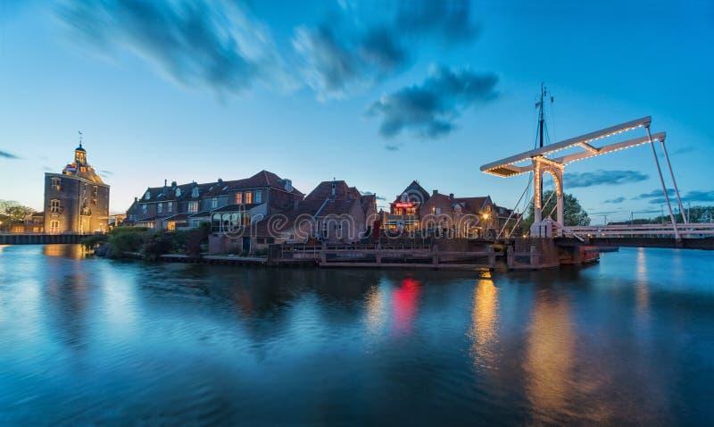 Le centre d'Enkhuizen aux Pays-Bas photographie stock libre de droits