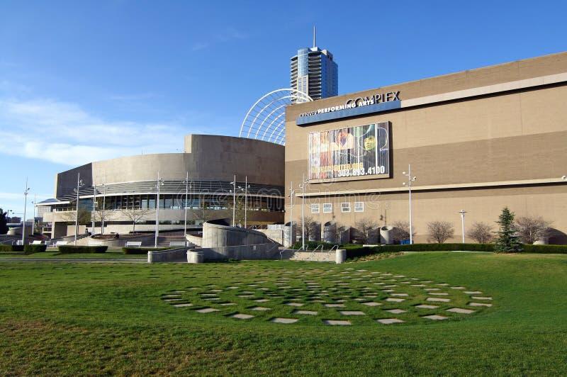 Le centre de Denver pour les arts du spectacle images libres de droits
