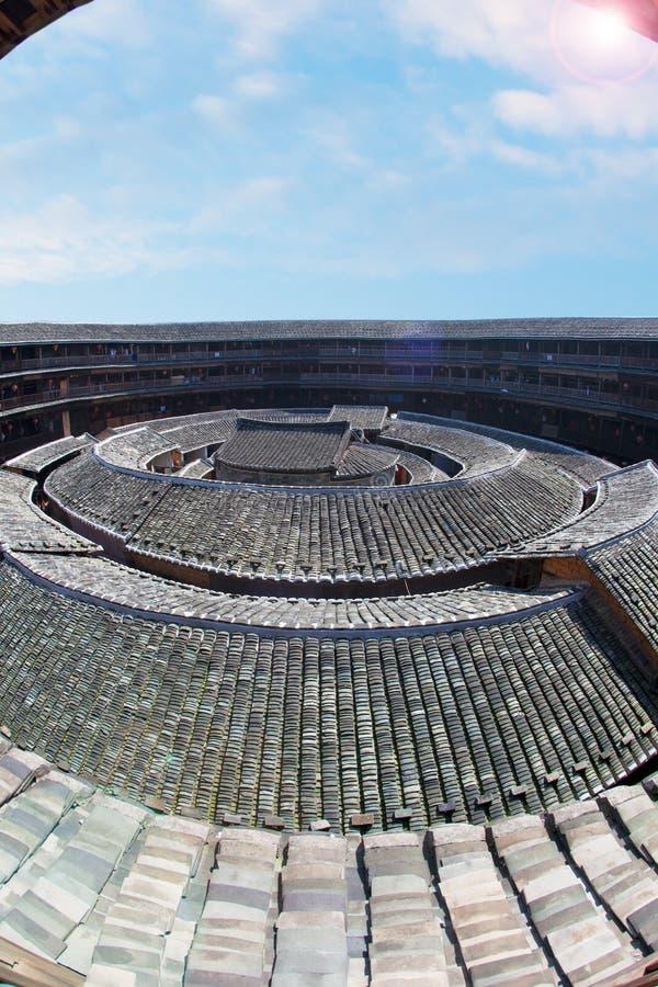 Le Centre De La Terre De Hakka Construisant 3 Images libres de droits