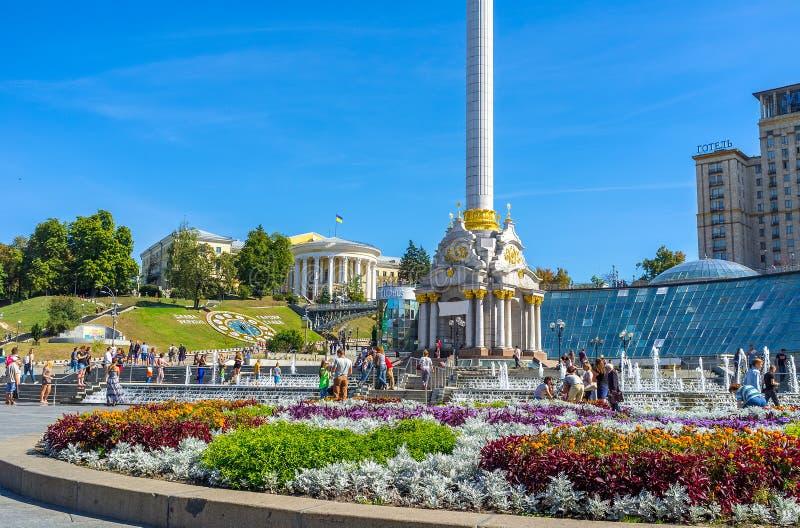 Le centre de la ville de Kiev photographie stock libre de droits