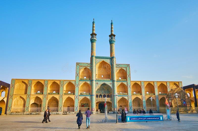 Le centre de la ville de Yazd, Iran photos libres de droits