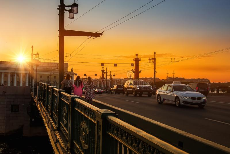Le centre historique de St Petersburg Russie   photos libres de droits