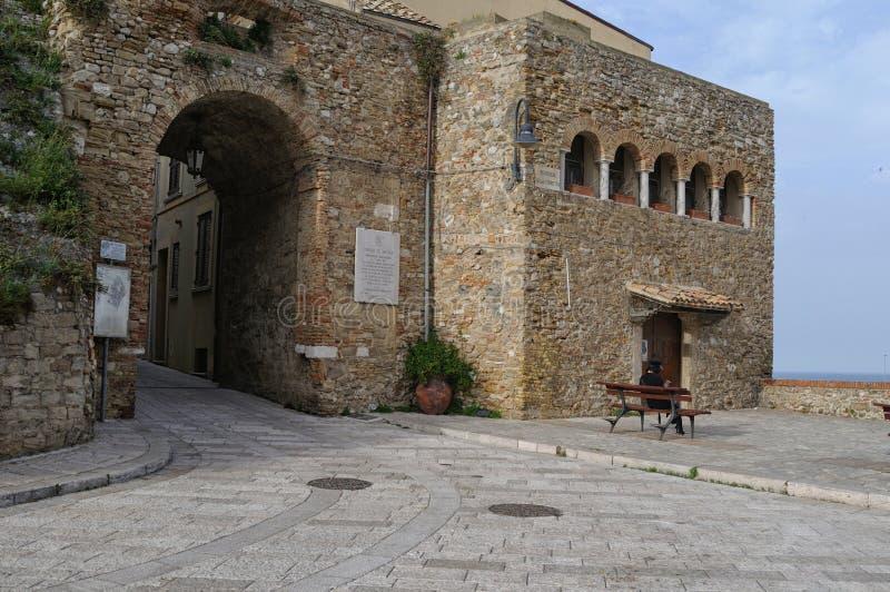 Le centre historique de Termoli photos stock