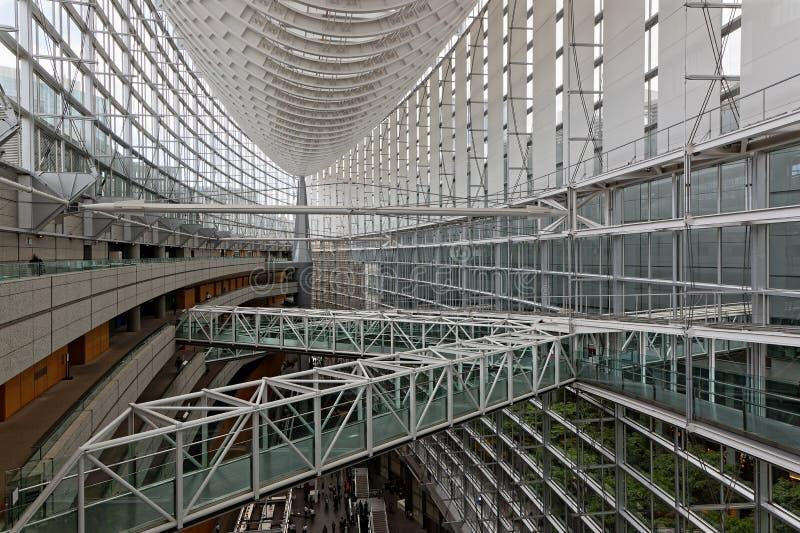 Le centre international de forum de Tokyo images libres de droits