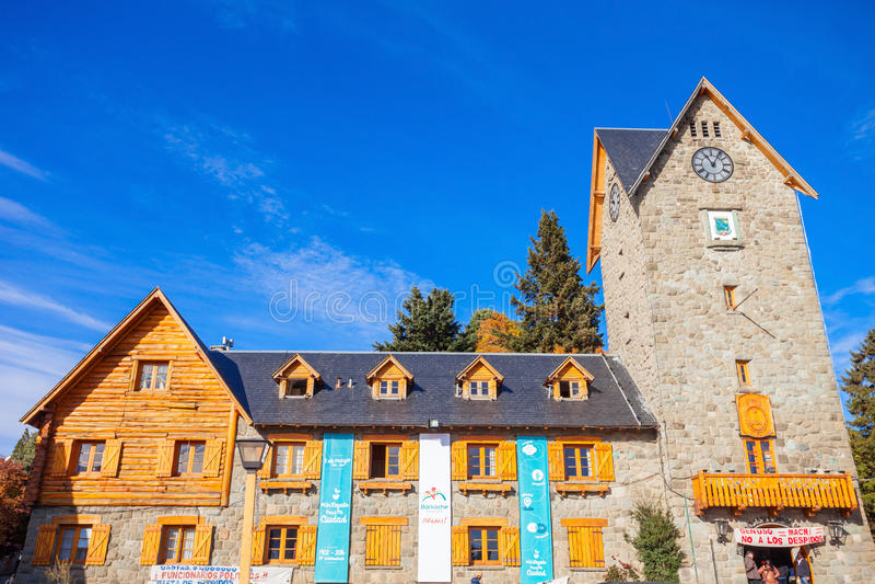 Le centre municipal de Bariloche image stock