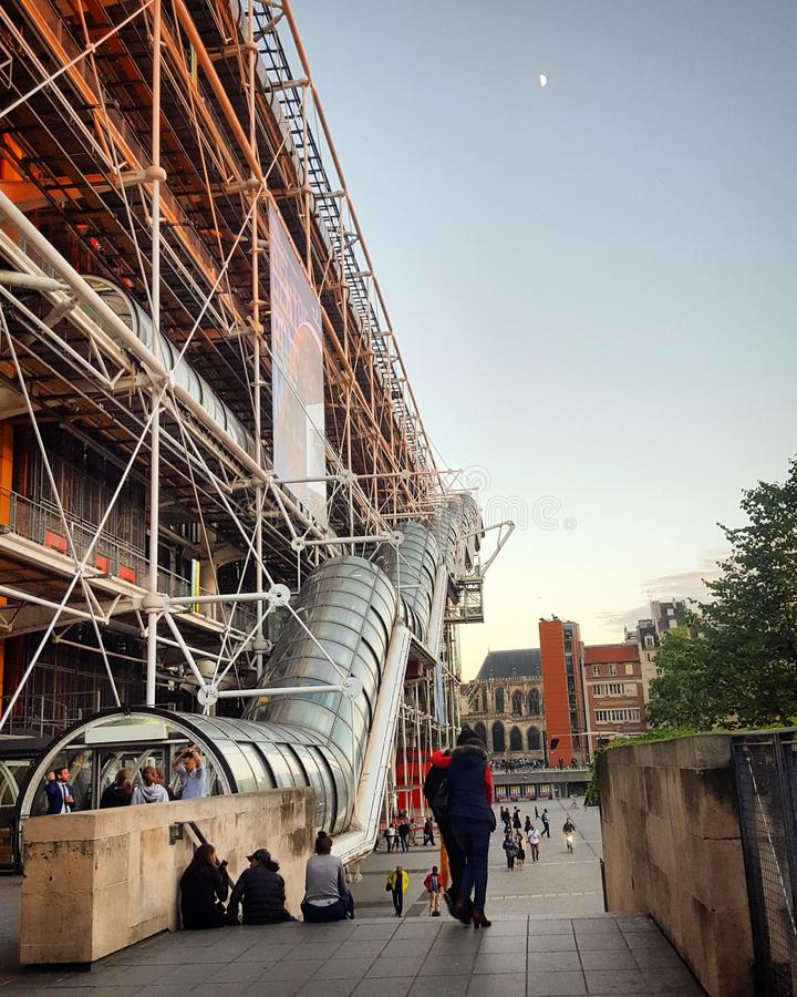 Le Centre Pompidou, bâtiment de déconstruction à Paris photos libres de droits
