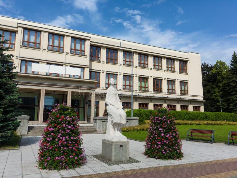 Le centre social de Petr Bezruc, Havirov, République Tchèque/Czechia images libres de droits
