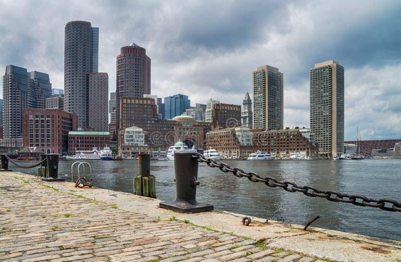 Le centre ville à Boston, Etats-Unis d'Amérique photos stock