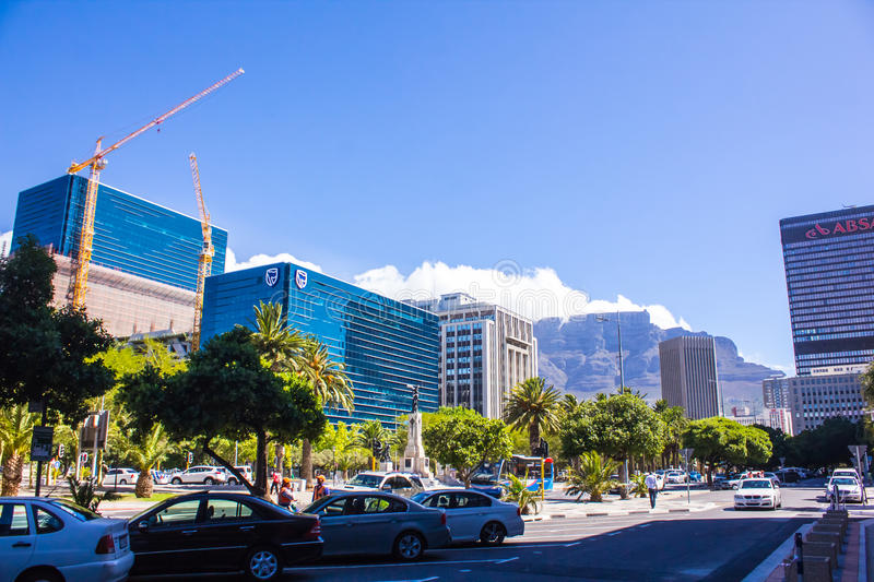 Le centre ville de Cape Town, Afrique du Sud photo libre de droits