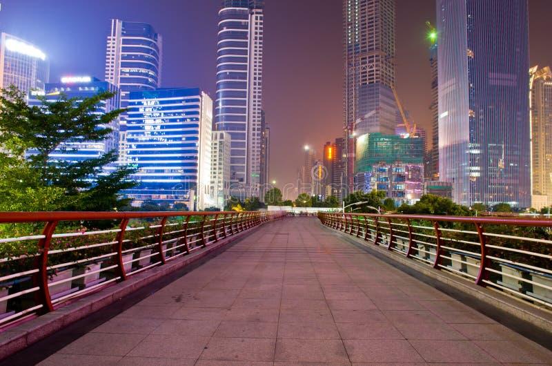 Le centre ville de guangzhou dans la porcelaine photographie stock libre de droits