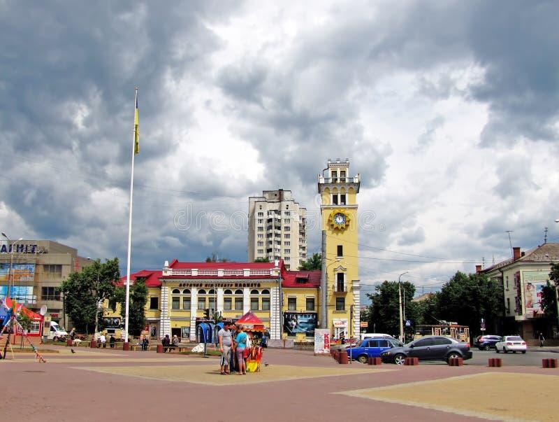 Le centre ville de ville de Khmelnytskiy photos stock