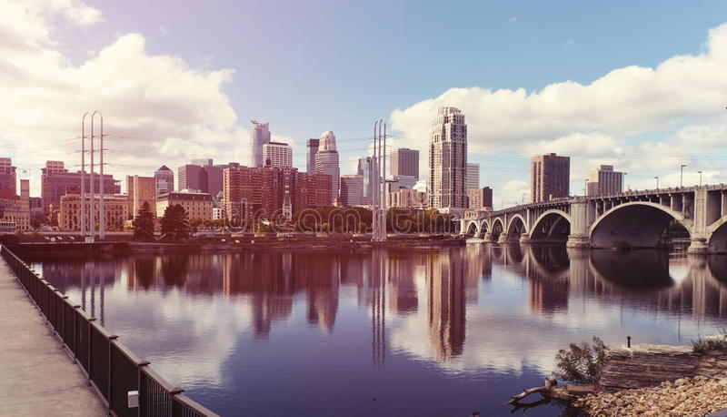 Le centre ville de Minneapolis minnesota photos libres de droits
