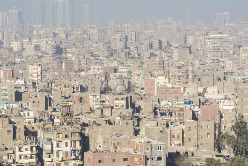 Le centre ville du Caire vu de Saladin Citadel, Egypte image stock