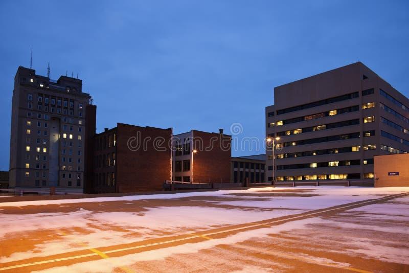 Le centre ville du canton, Ohio photographie stock