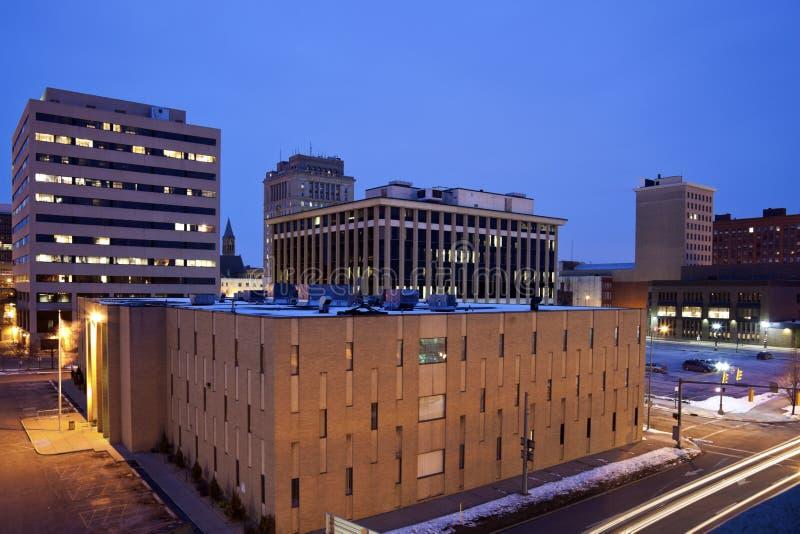 Le centre ville du canton, Ohio photos stock