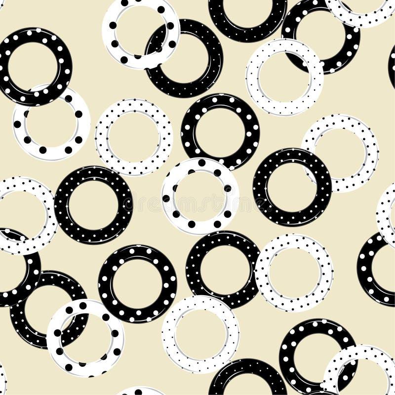 Le cercle à la mode complètent de modèle sans couture v de modèle de points de polka illustration libre de droits
