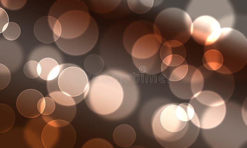 Le cercle abstrait de fond allume le type de Web de bokeh illustration de vecteur