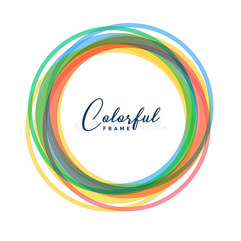 Le cercle coloré encadre le fond réglé illustration libre de droits