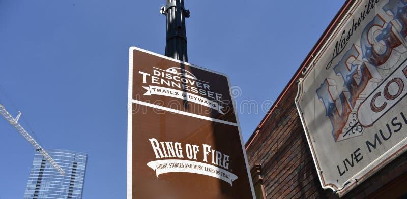 Le cercle de feu, découvrent Nashville, TN photo libre de droits