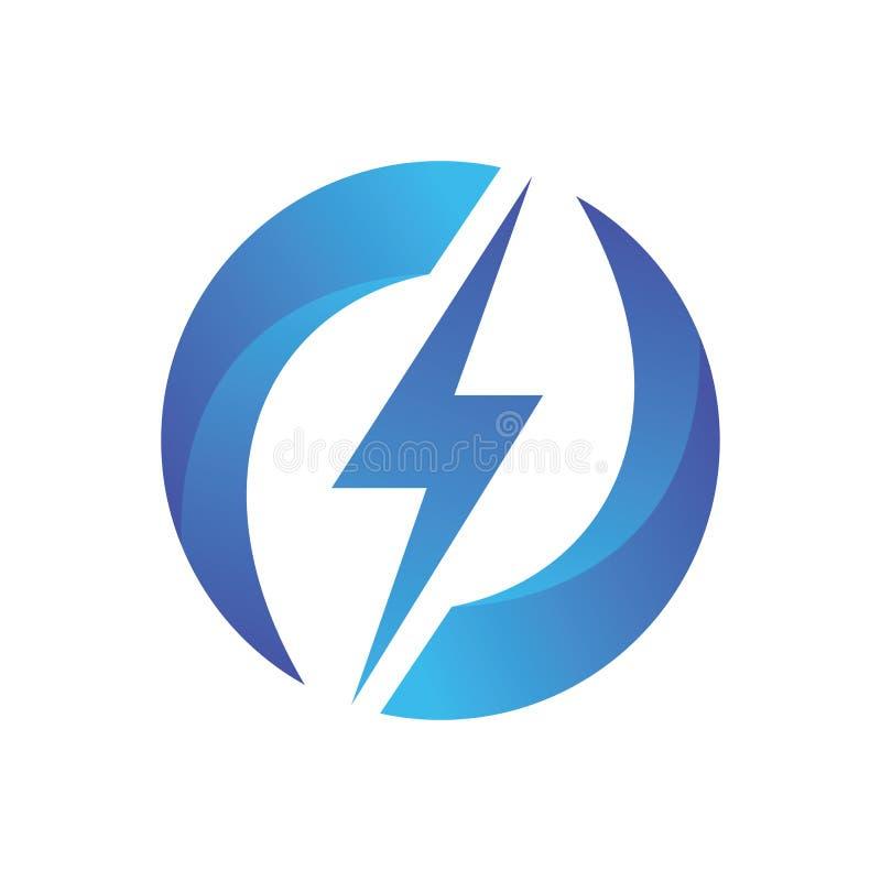 Le cercle de foudre réutilisent Logo Vector illustration stock